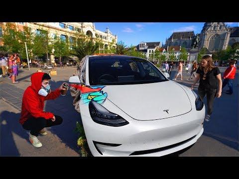 Spray Painting My Car IN PUBLIC !