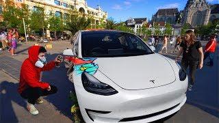 Spray Malerei Mein Auto IN der ÖFFENTLICHKEIT !