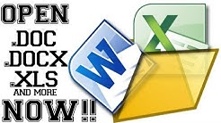 How To Open .DOC .DOCX .XLS WITHOUT Microsoft Office