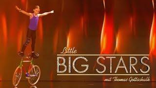 Waghalsige Kunstrad-Akrobatik (Ceyda) | Little Big Stars mit Thomas Gottschalk | SAT.1