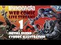 RhinoDroid Webcomic ~ 01 Initial Rhino Cyborg Illustration
