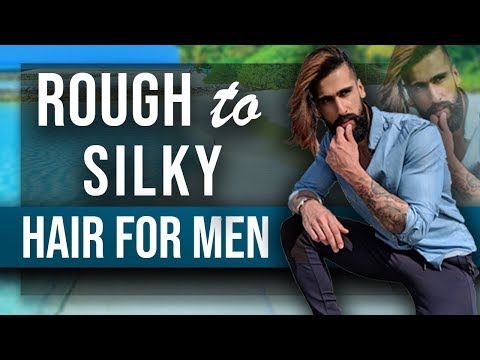 How To Get SOFT and SILKY HAIR For MEN | Rough/Dry/Curly to Smooth Hair | MENS HAIRSTYLE TIPS thumbnail