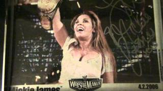WWE Auction WrestleMania 22 4,02,2006 Signed Mickie James 8x10.