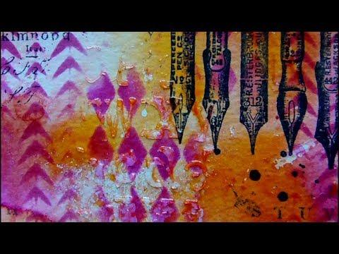 Mixed Media Art Journal Page - Create - Art Journaling