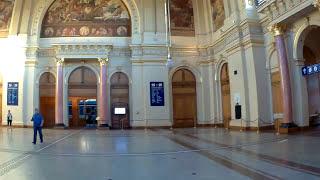 20. Будапешт. Венгрия. Интерьер вокзала Келети.