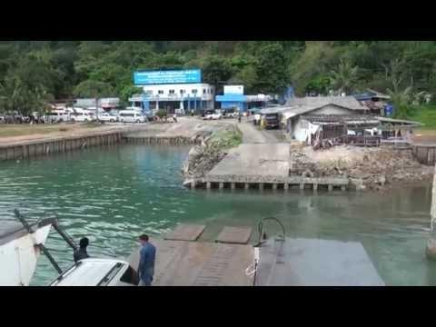 เที่ยวเกาะช้าง  ข้ามฟากไปกับเรือเฟอร์รี่ที่อำเภอแหลมงอบ จังหวัดตราด ปี 57