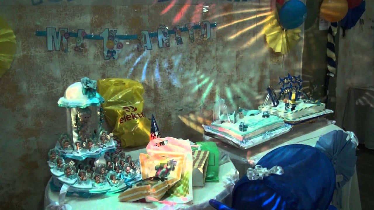 Fiesta de cumplea os de nahuel 1 a o youtube - Decoracion cumpleanos bebe 1 ano ...