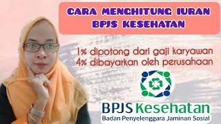 CARA MENGHITUNG IURAN BPJS KESEHATAN || PEKERJA PENERIMA UPAH ( PPU ) || BPJS KESEHATAN