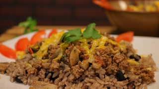 Beef Rice Bowl Recipe - ground beef recipe - arroz y picadillo recipe - ground beef ideas
