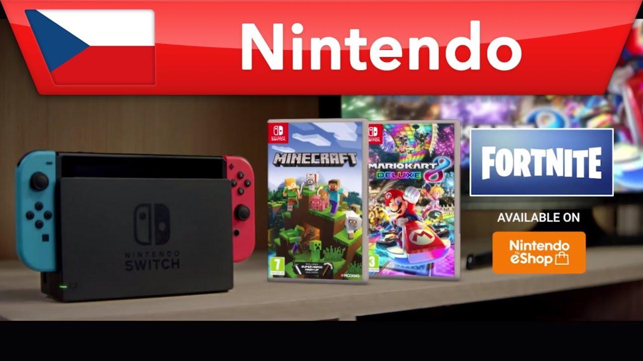 Minecraft, Fortnite a Mario Kart 9 Deluxe pro Nintendo Switch