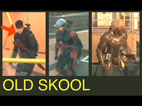 MGSV: Phantom Pain - Old Skool vs Modern Uniforms on FOB (Metal Gear Solid 5)