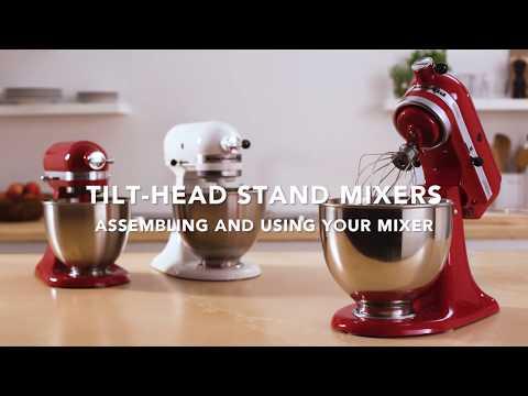 How To Assemble A KitchenAid® Tilt Head Stand Mixer