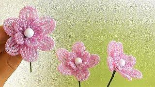 как сделать красивые цветы из бисера своими руками