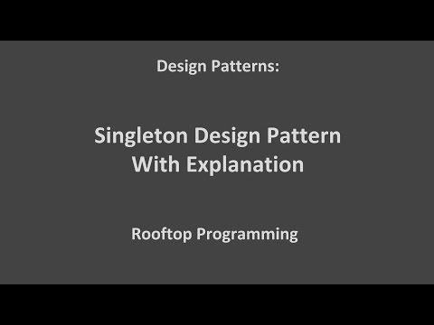 Singleton Design Pattern Tutorial With Explanation
