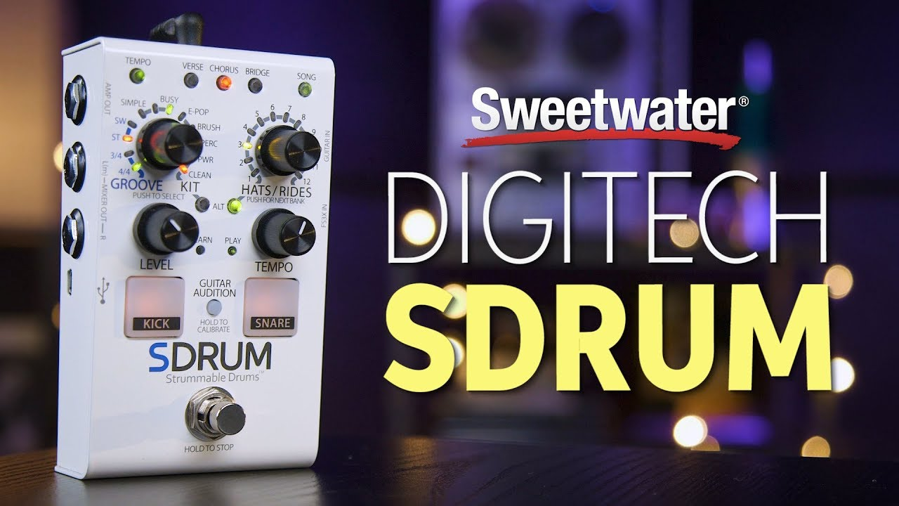 DigiTech SDRUM Auto-drummer Pedal Review