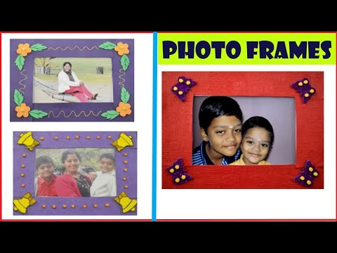 Latest Photo frames|4 types of Photo Frames|How to make photo frame from chart paper