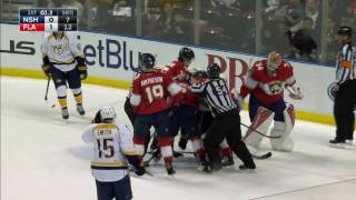 Gotta See It: Predators & Panthers don't get along, fight 3 times