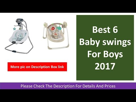 Best 6 Baby swings For Boys 2017 | Snugapuppy Cradle and Swing