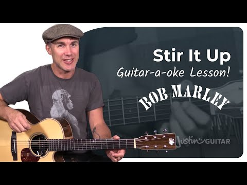 Super Easy Beginner Song: Stir It Up by Bob Marley Using Song Course App