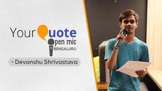 'Yaad Hai Mujhe' & More by Devanshu Shrivastava | Hindi Shayari & Poetry | YQ Open Mic 2 Bengaluru