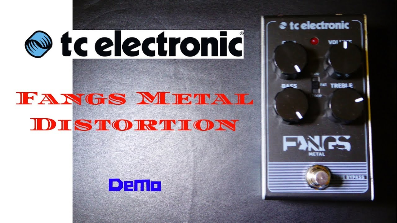 tc electronic fangs metal distortion pedal youtube. Black Bedroom Furniture Sets. Home Design Ideas