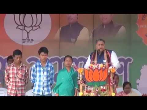 SPEECH OF SRI SUNIL  DEODHAR ,In-Charge, BJP Tripura State