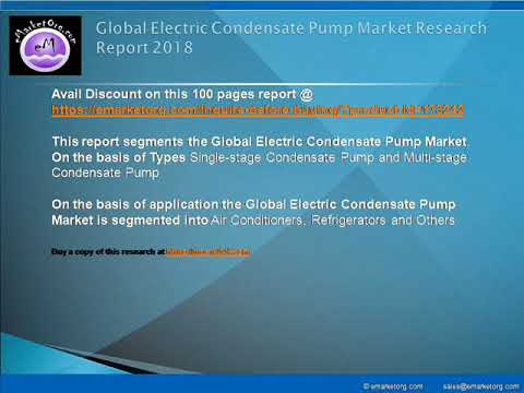 Electric Condensate Pump Market Growth Patterns, key company profiles, Revenue and more