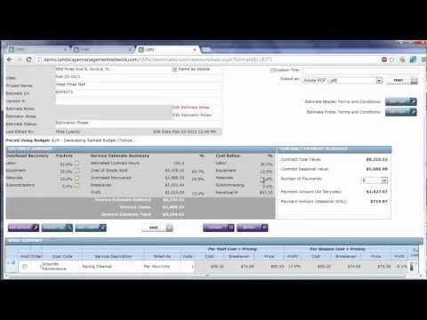 Exporting LMN's Landscape Maintenance Estimates to