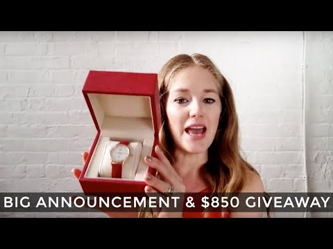 Big announcement and $850 giveaway!!!!