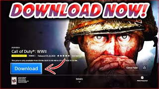 HOW TO DOWNLOAD 'COD: WW2' FOR FREE ON PS4! | CALL OF DUTY WWII FREE FOR ONE MONTH!