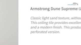 Armstrong Dune Supreme Unperforated Suspended Ceiling Tiles - Ceiling Tiles UK
