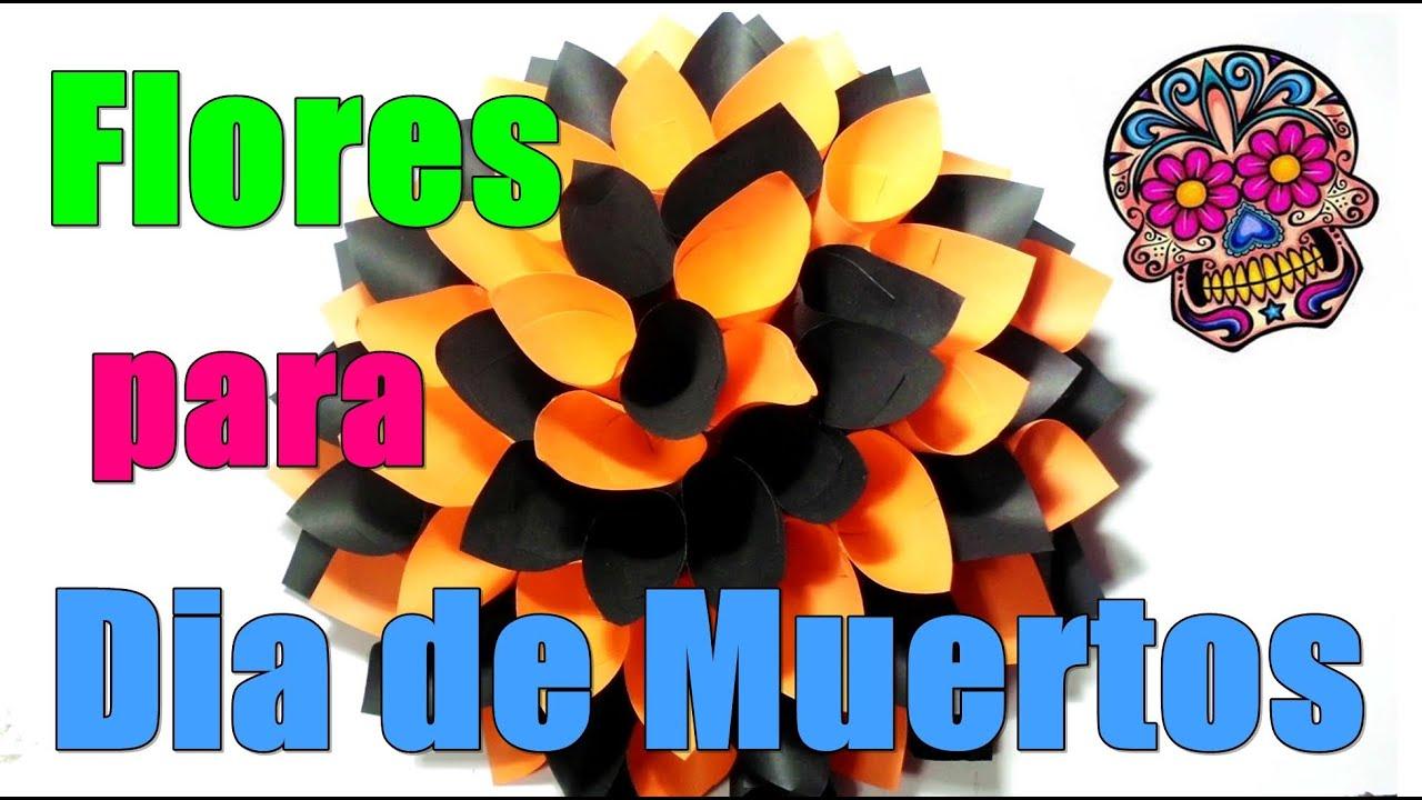 Flor para dia de muertos halloween youtube for Decoracion de puertas de dia de muertos