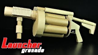 How To Make Multiple Grenade Launcher That SH00TS From Cardboard