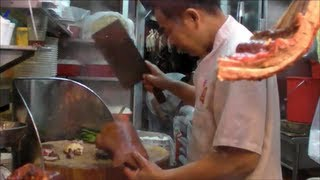Hong Kong Food. Action in the Kitchen of a Chinese Restaurant. Street Food
