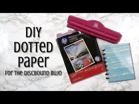 DIY Dotted Paper | Discbound Bullet Journal