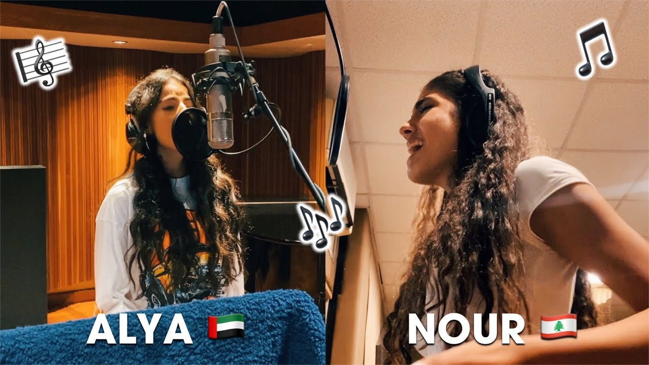 Pepsi x Now United - Nour & Alya Recording HABIBI!