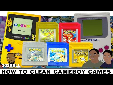 How to fix repair clean dirty non working nintendo gameboy games like pokemon kirby mario