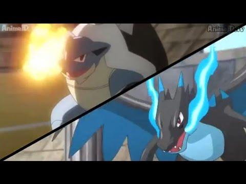 Pokemon XY Mega Blastoise VS Mega Charizard X - YouTube