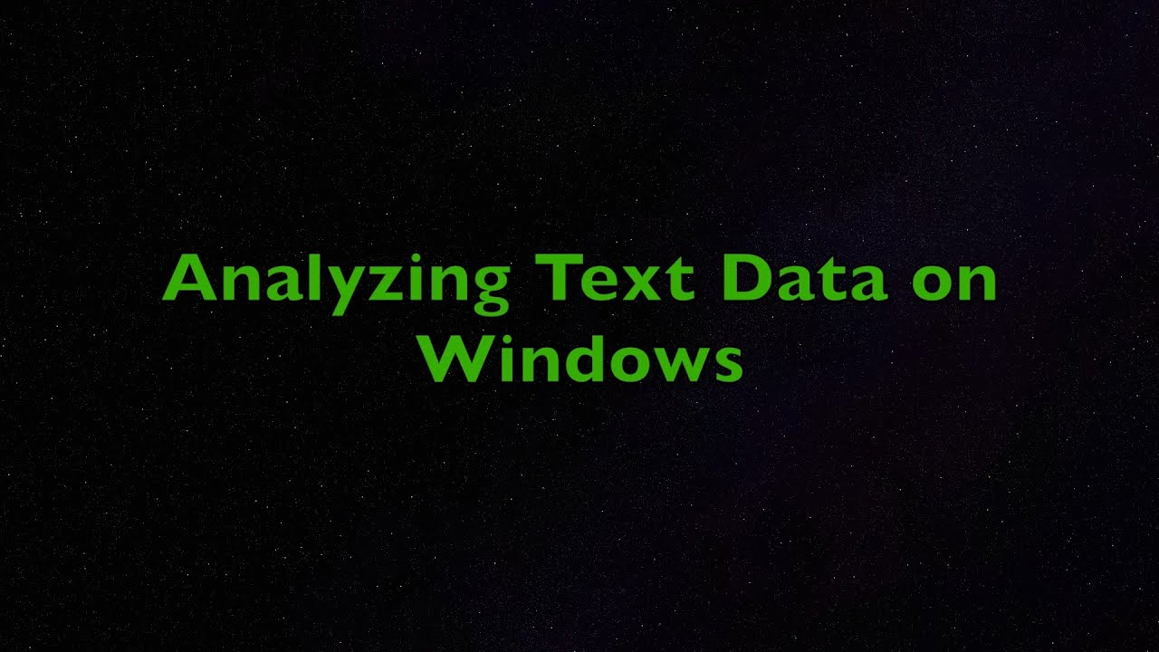 Analyzing Text Data with R on Windows