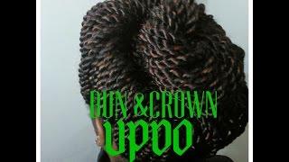 Video BUN & CROWN UPDO/Braids hairstyles for black women download MP3, 3GP, MP4, WEBM, AVI, FLV Juli 2018