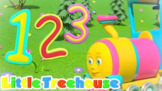 Numbers Train | Numbers Song | Counting Song 1 to 10 | little treehouse | abc train