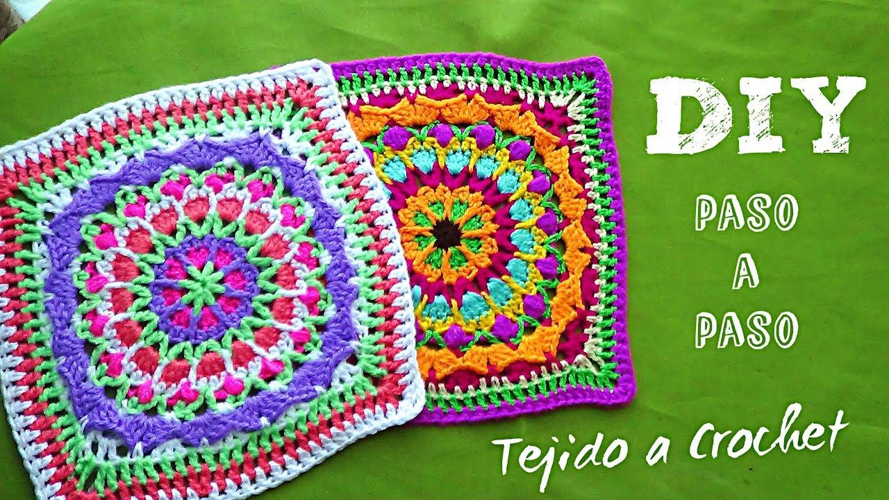 Cuadros Tejidos A Crochet Paso A Paso En Español Para Colchas