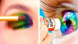 How to Sneak Makeup Into School Supplies || 6 Funny Makeup Hacks