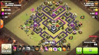 Clash of clans Extreme war compilation part-11 | 3 star attack strategy | Clan Wars