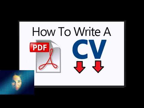 The Guide You Must Have For How To Write Cv Pdf