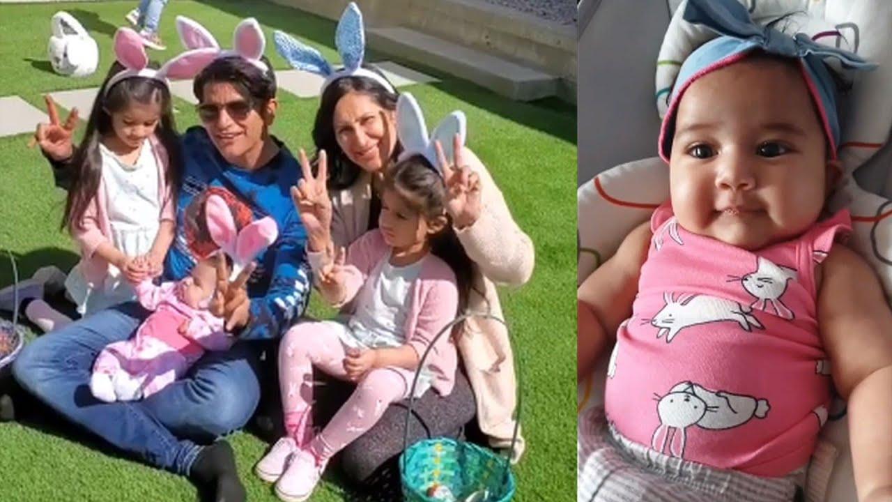 Teejay Sidhu & Karanvir Bohra Celebrates Easter With Cute Daughters -  YouTube
