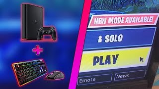 HOW to PLAY with the KEYBOARD, mass and FORTNITE on PS4?!?
