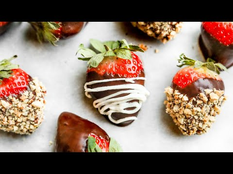 Chocolate Covered Strawberries | How To Make KETO NO SUGAR ADDED HEALTHY Chocolate Strawberries