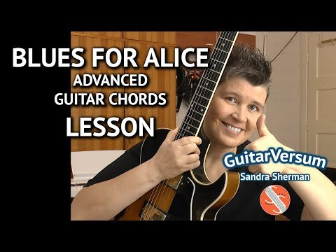 BLUES FOR ALICE - Guitar Chords LESSON -  Advanced Jazz Chords
