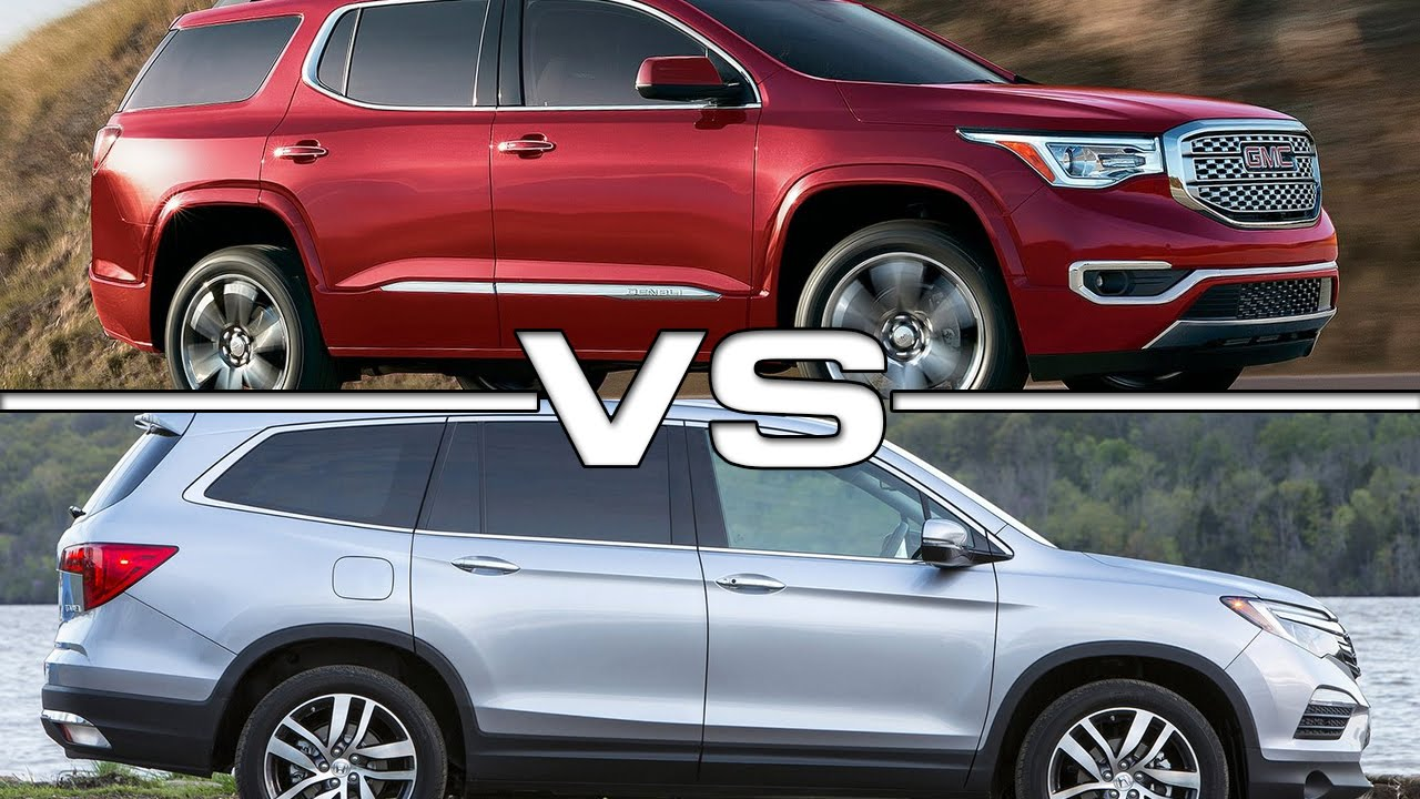 GMC Acadia vs Honda Pilot - YouTube